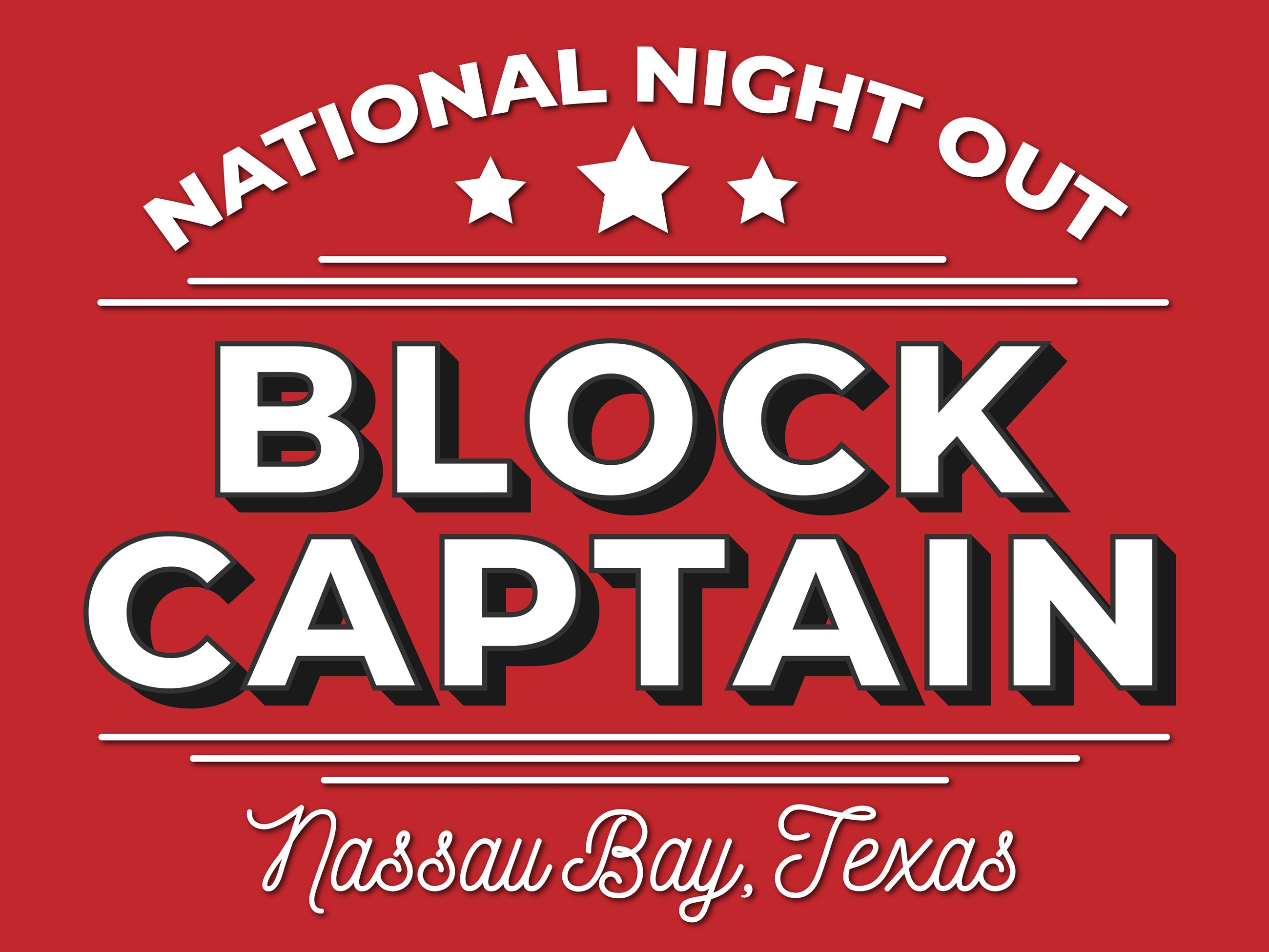 NNO Block Captain Sign