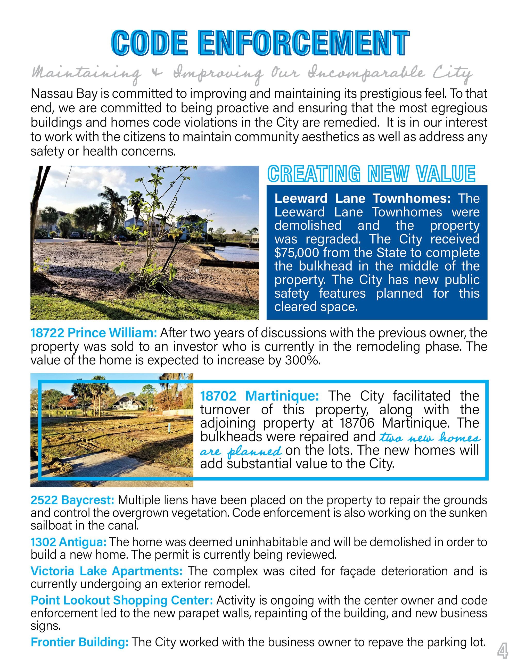 2020 Nassau Bay Year in Review Page 4
